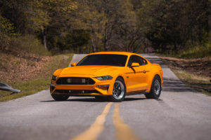 2019 Orange Fury Ford Mustang GT WELD S71 Forged Wheels