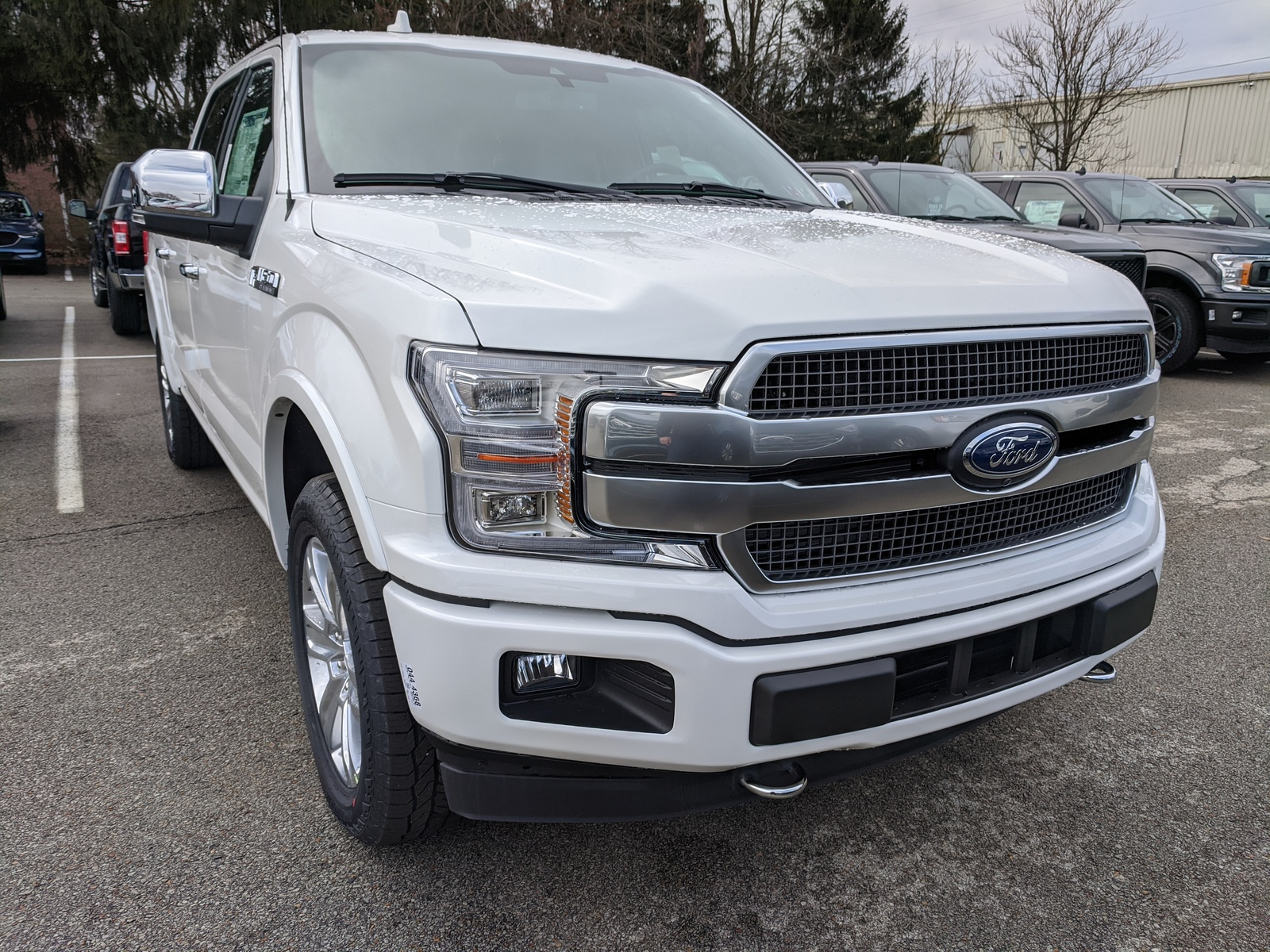 New 2020 Ford F 150 Platinum Crew Cab Pickup In Star White