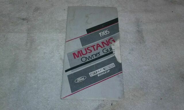 Ford MUSTANG 1985 Owners Manual 725948 EBay