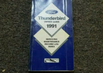 1991 Ford Thunderbird Factory Owner Operator User Manual