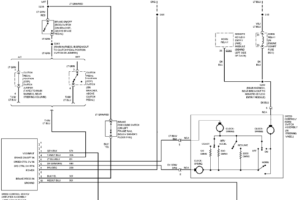 1997 Ford Pickup F350 System Wiring Diagram Service