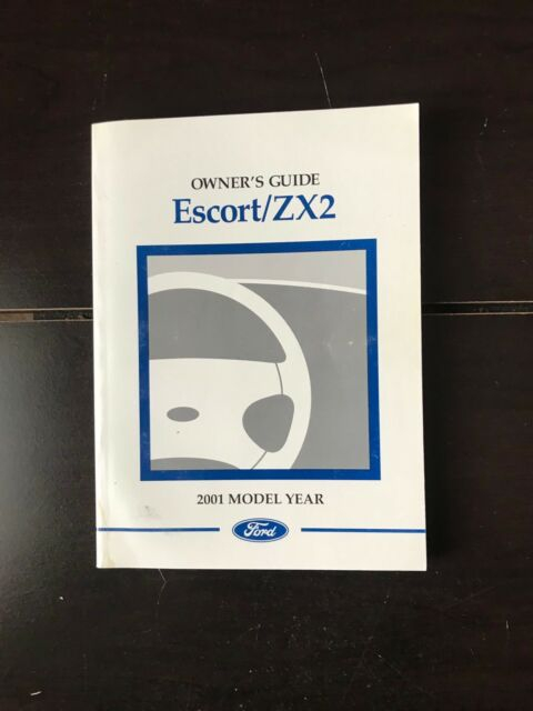 2001 Ford Escort Zx2 Owners Manual OEM Free Shipping EBay