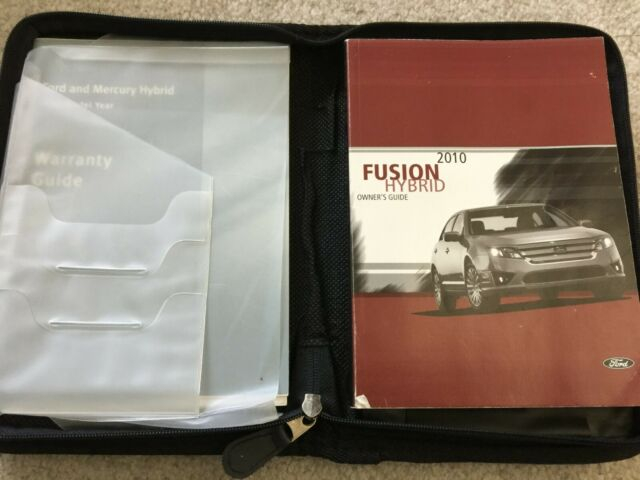 2010 Ford Fusion Hybrid Owners Manual EBay