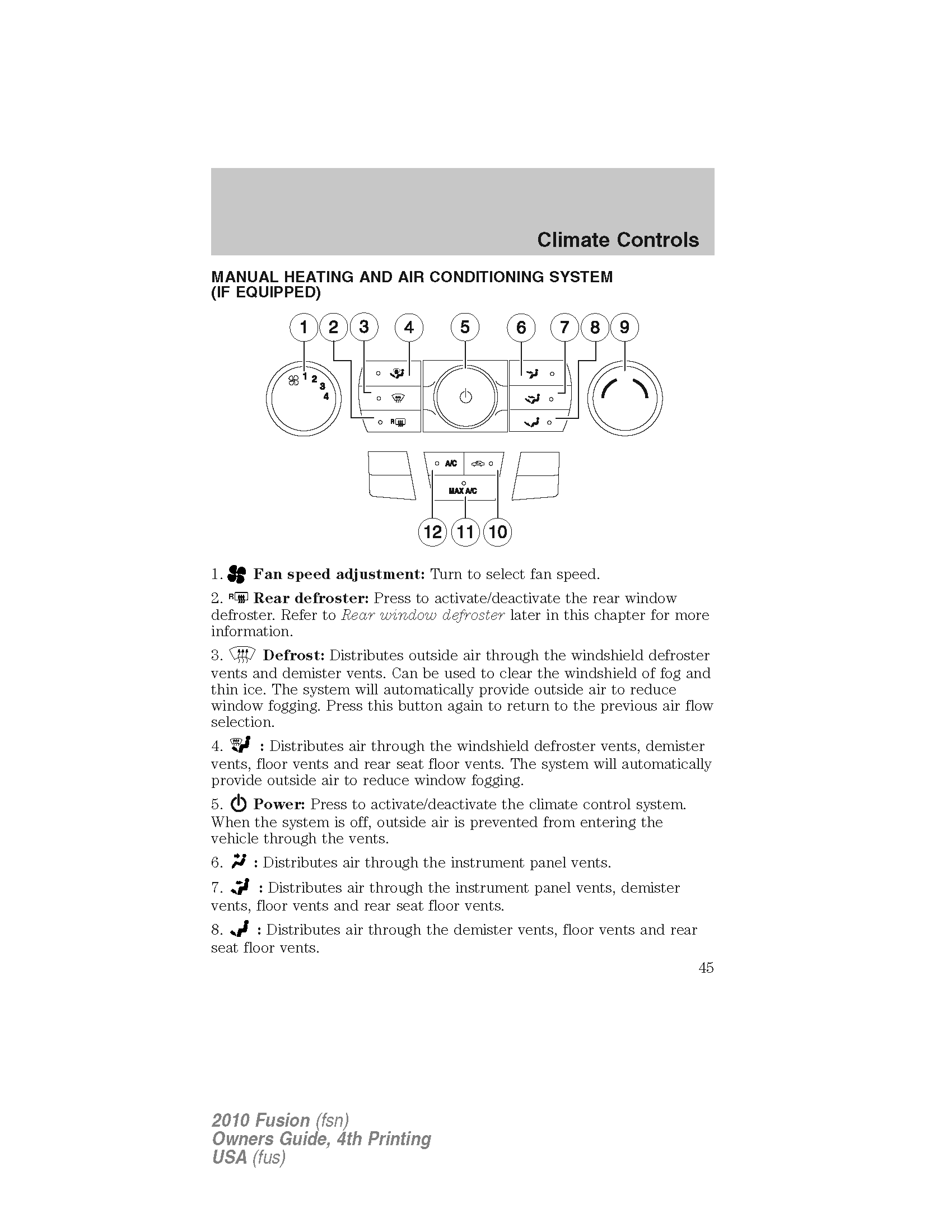 Ford Fusion 2010 Owners Manual Pdf