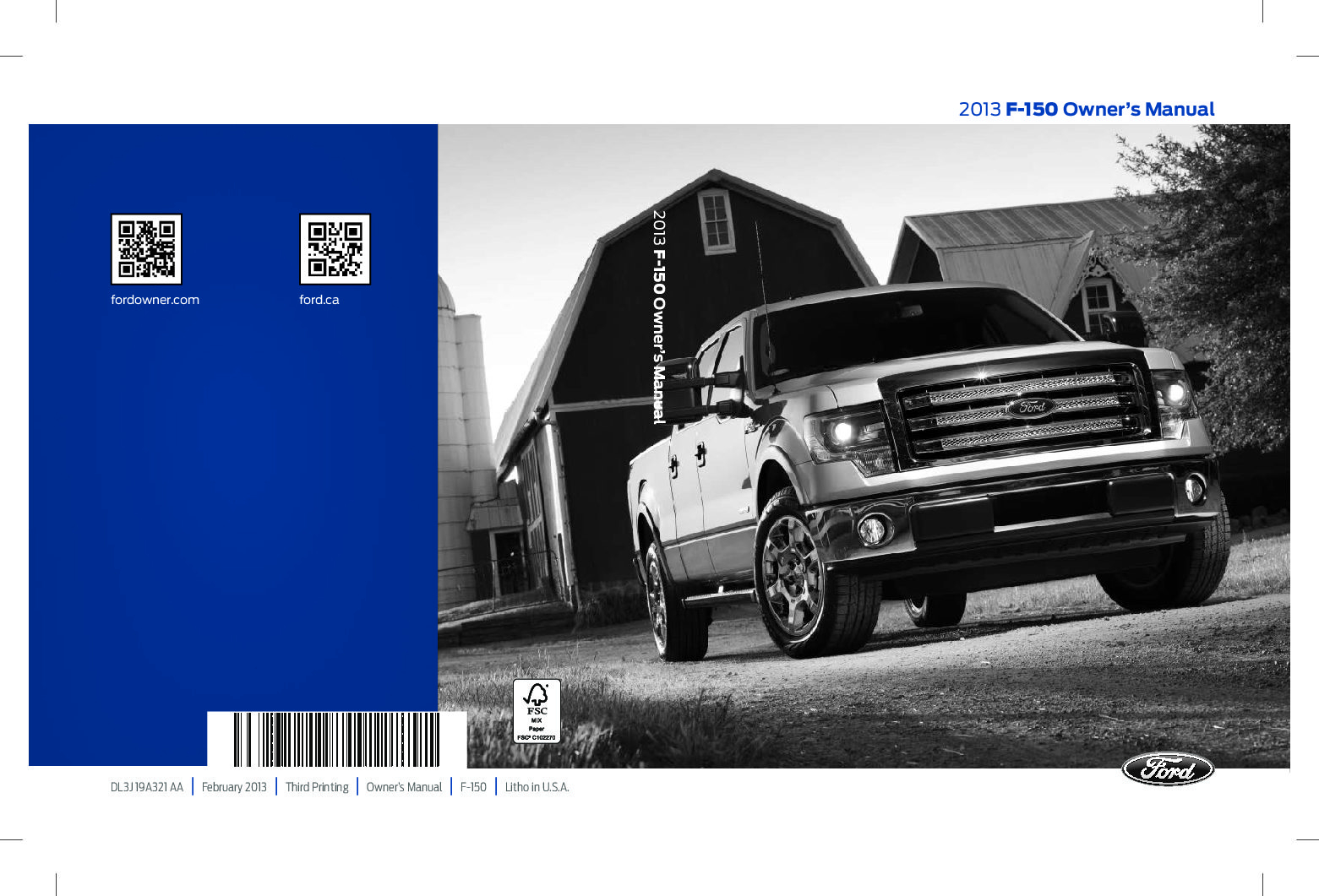 2013 Ford F 150 Owners Manual Just Give Me The Damn Manual