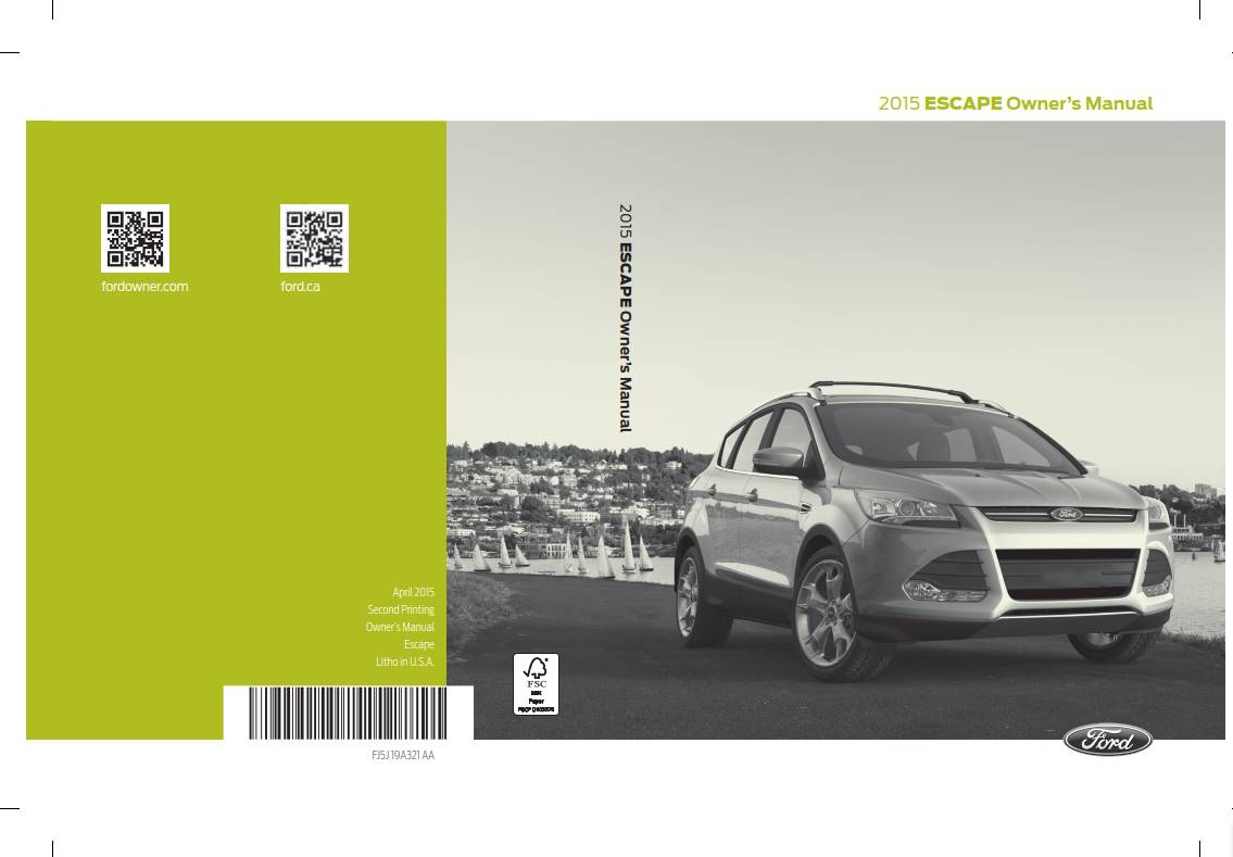 Ford Escape 2015 Owner s Manual PDF Download