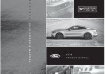 2016 Ford Mustang Owners Manual Manuals Books