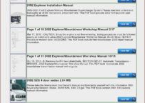 1992 Ford Ranger Owners Manual Pdf FordPrice us
