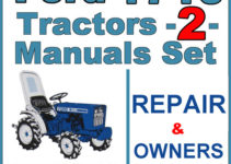 Ford 1710 Tractor Service Operator Manual 2 Manuals